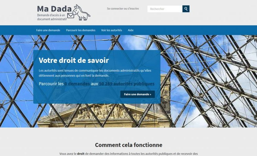 Ma Dada: a new online service for access to information requests in France